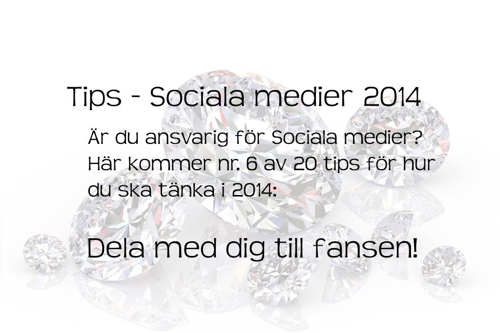 Tips Sociala Medier 2014 gåvor