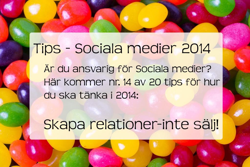 Tipse Sociala Medier skapa relationer