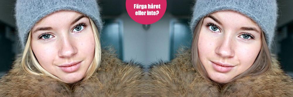 Photoshop med färgläggning av hår