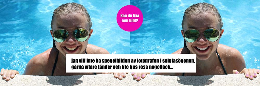Photoshop tips med retusch, friläggningoch färgläggning
